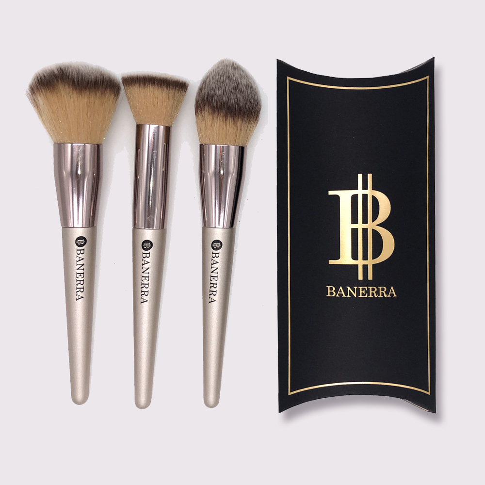 Banerra Powder Make-up Brsuhes Set of 3_