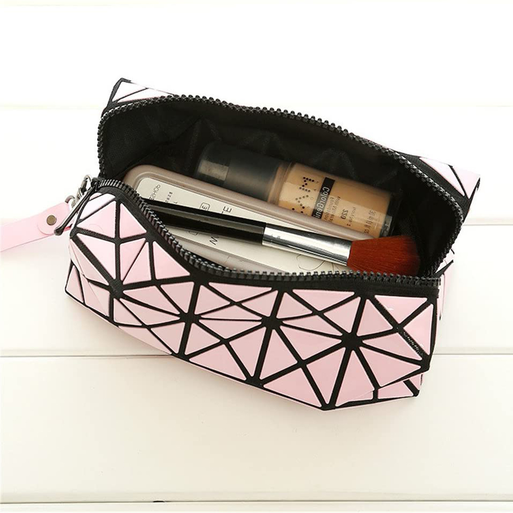 Geometric pink cosmetic bag Banerra