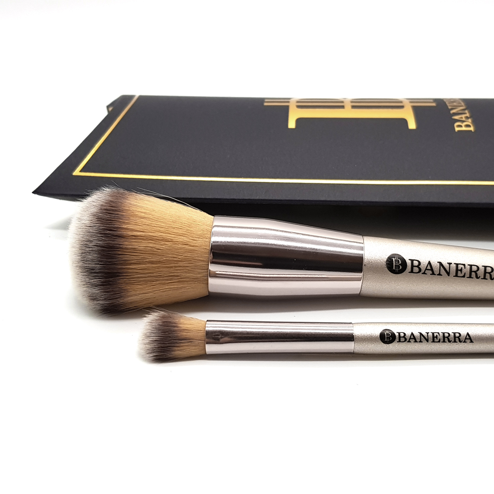 powder and eyeshadow brush set Banerra